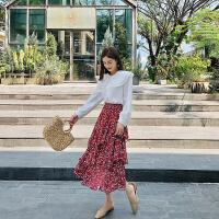 卡贝琳女白色雪纺衬衫女韩版2019新款很仙的娃娃领心机上衣设计感洋气衬衣