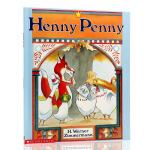 英文原版绘本 廖彩杏书单 小母鸡潘妮 Henny Penny 3-8岁儿童绘本民间故事平装 畅销绘本 经典故事