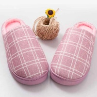 男士棉拖鞋冬季大码厚底室内保暖滑家居家用毛毛托鞋情侣女冬