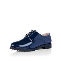 【 限时4折】爱旅儿哈森旗下平跟系带时尚休闲学生布洛克单鞋女EL65306