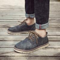男士休闲鞋单皮鞋时尚系带工装鞋2018秋季新款男鞋英伦皮鞋子潮流
