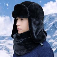 雷锋帽子男士女冬天加绒加厚保暖东北棉冬季户外骑车防风老人皮帽