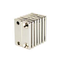 方形强磁铁吸铁石 长方形强力磁铁带孔磁铁30x10x3带M3沉头孔