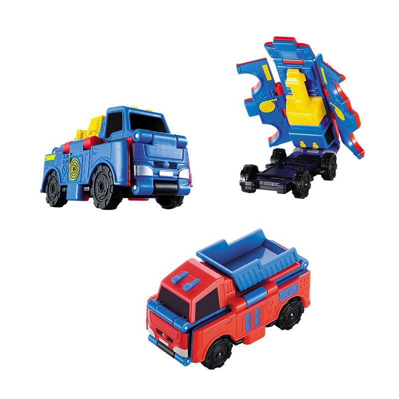 澳贝工程车套装 反反车 变形车宝宝口袋警车重卡车 儿童玩具 3岁 澳贝工程车套装 反反车 变形车