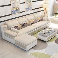 【支持礼品卡】家具小户型布艺沙发转角出租房北欧套装简约现代客厅整装组合3pp