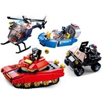 兼容乐高积木军事特警系列直升机装甲车拼插拼装积木儿童启蒙益智玩具礼物6-12岁