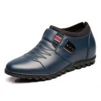 增高鞋男士休闲鞋春夏秋新款皮鞋6cm 软底系带鞋一件
