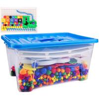 拼插拼图玩具儿童早教桌面力拼插板塑料3C认证
