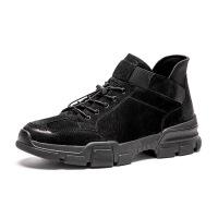 男鞋冬季韩版潮流英伦秋季工装板鞋高帮棉鞋男士休闲鞋子 jt188黑色 38