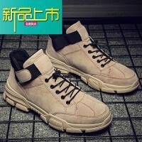 新品上市冬季马丁靴男英伦加绒保暖工装男鞋春季高帮潮男靴子加厚加棉短靴