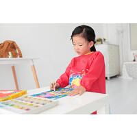 儿童罩衣防水围裙长袖宝宝画画衣中大童反穿衣薄款透气