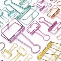镂空长尾夹彩色复古金属手账燕尾夹学生可爱创意试卷文件资料夹子