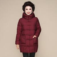 妈妈冬装棉衣中长款羽绒2018新款40岁50中老年女加厚棉袄外套