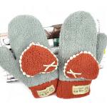 女款简约韩版新款保暖可爱卡通女式连指绒手套