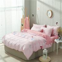 裸睡水洗棉三件套四件套床单被套单人宿舍,不褪色不起球床品套件