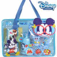迪士尼 文具大礼包手提学习袋(蓝色)D6800538(学生运动水壶 铁笔盒 12色水彩笔 铅笔 订书机 卷笔刀 橡皮擦
