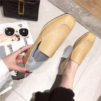乐福鞋女2019春季新款女鞋圆头中口平底休闲韩版复古学生女低帮鞋