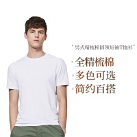 网易严选 男式精梳棉圆领短袖T恤衫