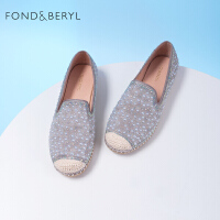 【券后价:339元】FONDBERYL乐福鞋2021春新圆头中口一脚蹬女鞋FB11111126