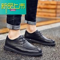 新品上市皮鞋男内增高秋季新款男士商务休闲鞋青年韩版英伦百搭潮流加绒鞋