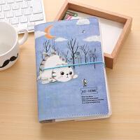 A6活页手账本 韩国可爱创意皮面笔记本子记事本小清新彩页日记