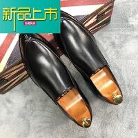 新品上市秋季男士正装皮鞋鞋子内增高百搭系带休闲型师鞋透气英伦韩版