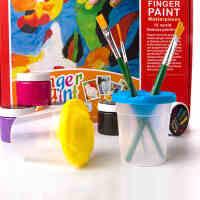满百包邮美乐 向毕加索学习创意儿童手指画颜料 无毒水洗工具套装生日礼物