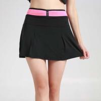 运动裙裤女夏跑步大码速干假两件高腰透气轻半身短裤裙防走光网球