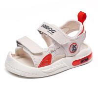 巴布豆bobdoghouse小童凉鞋2021新款夏季款男女童宝宝包头机能鞋子-卡其