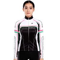 新款 舒适户外运动自行车女款抓绒保暖骑行服套装