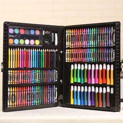 168件套文具套装 水彩笔套装 绘画套装 儿童礼物手提套装 168件文具套装 该商品颜色随机 如有疑问请联系客服!