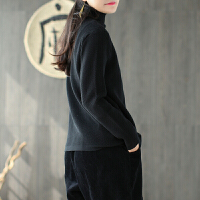 新年特惠秋冬新款棉半高领针织打底衫纯色宽松百搭上衣套头女毛衣 均码