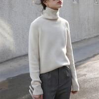 新年特惠2019秋冬新款衫女短款高领加厚套头小款毛衣宽松打底毛衫大码