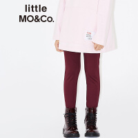 【折后价:95.6】littlemoco新品儿童裤子金属片橡筋腰弹力针织裤休闲打底裤裤子