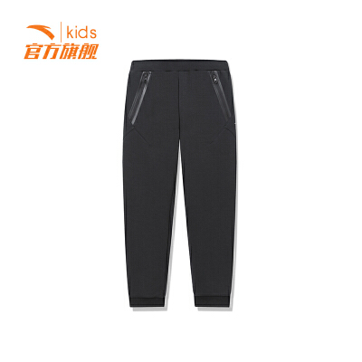 【3折价83.7】安踏童装男童针织长裤儿童运动裤休闲裤子35917777
