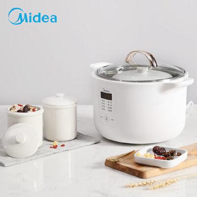美的(Midea)电炖锅MD-DZ16P101家用陶瓷煲汤隔水炖锅煲粥全自动养生电炖盅