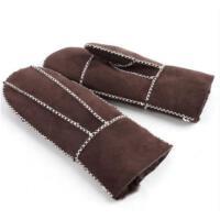 真皮手套女士 潮款皮毛一体保暖 女可爱防寒羊皮手套