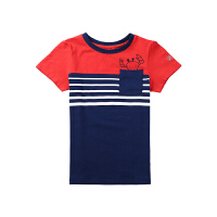 【秒杀价:56元】探路者儿童短袖T恤 19春夏户外男童短袖柔软舒适T恤QAJH83012