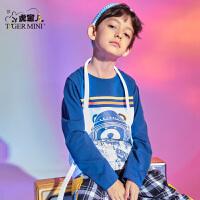 【专区任选3件99元】小虎宝儿男童长袖t恤儿童2021新款春装纯棉童装中大童洋气
