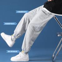 男士休闲长裤子夏季薄款宽松直筒运动裤韩版潮流ins阔腿束脚卫裤