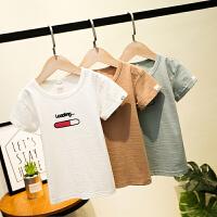 男童短袖T恤中童体恤衫夏季儿童宝宝圆领上衣