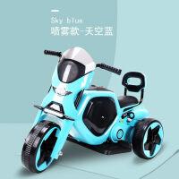 儿童电动三轮车摩托车喷雾2-3-4男女小孩玩具电动车可坐人