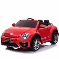 儿童电动车四轮汽车大众甲壳虫宝宝超大号玩具车可坐人带遥控童车