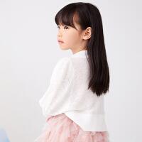 【秒杀价:109元】马拉丁童装女大童外套2020夏装新款罗纹边口设计白色短外套