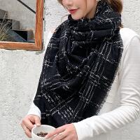 上海故事新款100%羊毛加牙刷纱围巾女秋冬季披肩两用韩版围脖日系