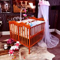 双胞胎婴儿床实木双胞胎bb床大尺寸多功能拼接大床