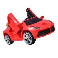 儿童电动汽车四轮遥控1-3男女宝宝摇摆可坐人4-5岁小孩婴儿玩具车 中配红色+剪刀门+单电单驱+遥控 普通座