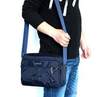新款防水牛津帆布男士包包单肩斜跨背包商务休闲潮男包公文包