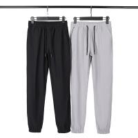 冰丝裤子男士夏季宽松黑色九分运动束脚裤超薄款速干空调休闲长裤