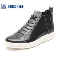 红蜻蜓旗下品牌 HONCHIEF 男鞋休闲鞋秋冬鞋子男板鞋高帮鞋KTA1010